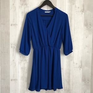 Dresses & Skirts - Lush Faux Wrap 3/4 sleeves Dress